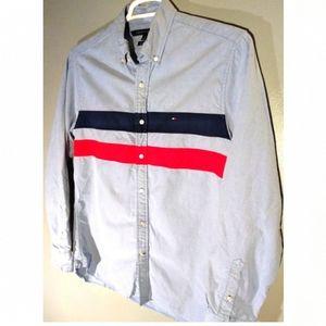 Tommy Hilfiger men's medium button-down shirt